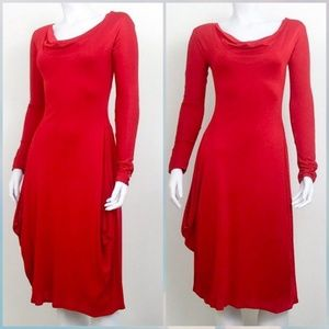 Alexander McQueen Draped Side Red Dress